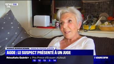Une voisine de l'homme, suspecté d'avoir décapité une femme à Agde s'exprime au micro de BFMTV