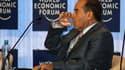 """Le n°2 du nouveau régime libyen, Mahmoud Djibril, ici lors d'un forum économique en Jordanie, a annoncé samedi sa probable démission de la tête de l'exécutif du CNT alors que les autorités libyennes s'apprêtent à proclamer dimanche la """"libération totale"""""""