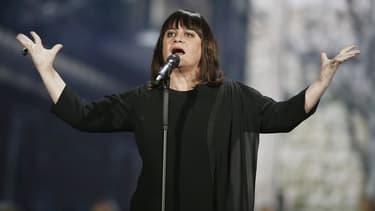 Lisa Angell lors de la demi-finale de l'Eurovision