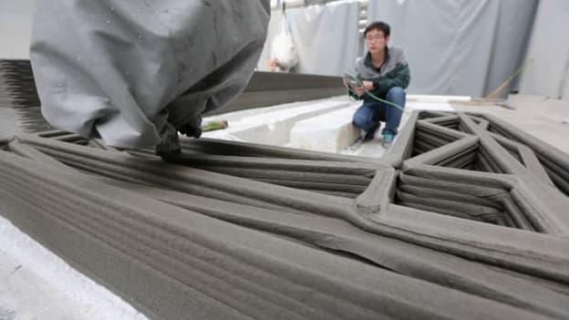 Une société chinoise a construit un immeuble de 4 étages grâce à une imprimante 3D.