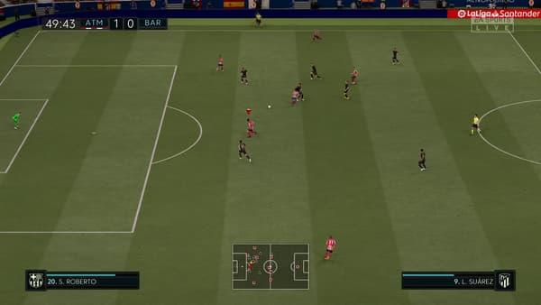 Atlético-Barça dans FIFA 21