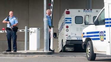 Fourgon de police au Canada (illustration)