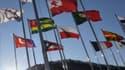 Les drapeaux à Pyeongchang