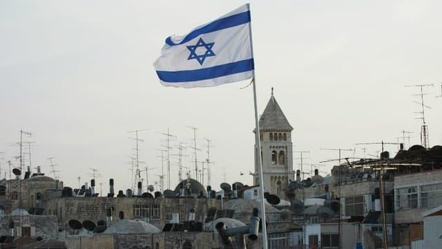 Un drapeau israélien - Illustration
