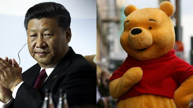 Xi Jinping et Winnie l'ourson