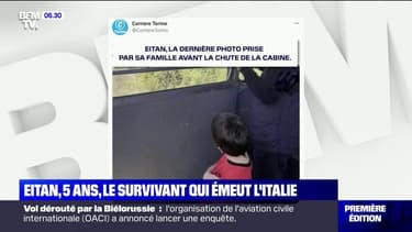 Chute d'un téléphérique: le destin d'Eitan, 5 ans et seul survivant du drame, émeut l'Italie