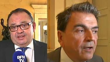 Patrick Mennucci, Pierre Lellouche et Gilbert Collard depuis l'Assemblée nationale sur BFMTV le 12 octobre 2016.