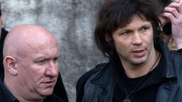 """Noir Désir, ici en 2009 avec Denis Barthe à gauche et Bertrand Cantat à droite, a dénoncé le mode de vie des Golden boys dans """"l'homme pressé""""."""