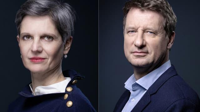 Sandrine Rousseau et Yannick Jadot.