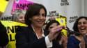 Anne Hidalgo après les résultats du premier tour des élections municipales, le 23 mars 2014.