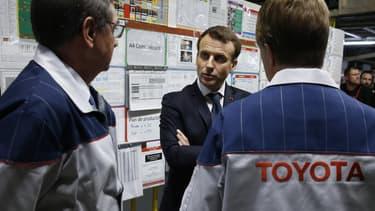 Emmanuel Macron était en visite sur le site de Toyota à Onnaing (Nord).
