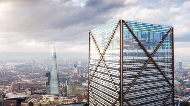La tour imaginée par l'architecte Eric Parry