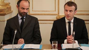 Edouard Philippe et Emmanuel Macron à Paris, le 30 octobre 2017.