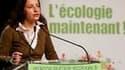 La secrétaire nationale des Verts, Cécile Duflot. La liste d'Europe Ecologie gagne quatre points en Ile-de-France pour atteindre 18% des intentions de vote au premier tour des régionales, dimanche, selon un sondage TNS Sofres Logica pour Le Monde publié m