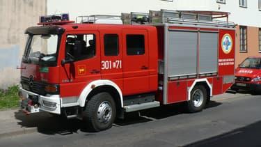 Un camion de pompiers polonais