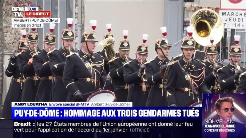 Puy-de-Dôme: la commune d'Ambert rend hommage aux trois gendarmes tués dans la nuit du 22 au 23 décembre