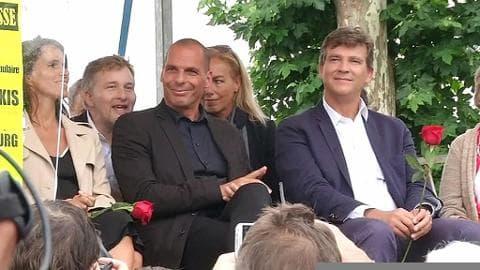 Fête de la rose: Montebourg et Varoufakis font front contre l'austérité