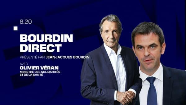 Olivier Véran est l'invité de BFMTV-RMC, le 17 novembre 2020.