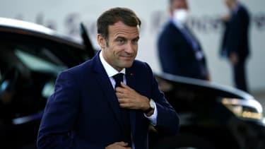 Emmanuel Macron arrive au sommet Afrique-France à Montpellier, le 8 octobre 2021