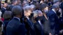 Joe Biden, Barack Obama et Hillary Clinton samedi 11 septembre 2021, lors de la cérémonie de commémoration à New York
