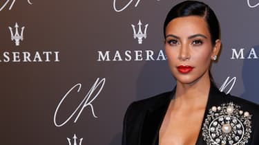 Kim Kardashian à la Fashion Week à Paris, le 30 septembre.