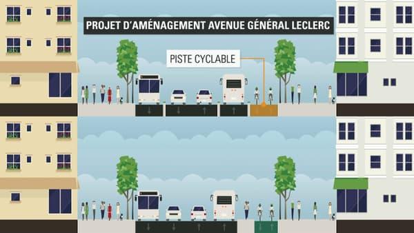 Le projet prévoit de passer de 5 voies de circulation à 2 avec la création d'une piste cyclable et d'une voie de bus supplémentaire.