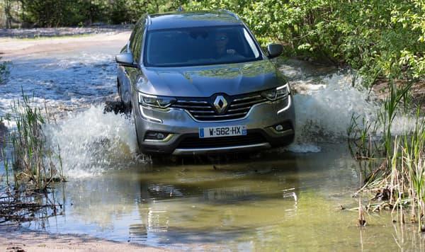 Le Renault Koleos dispose d'une transmission intégrale.