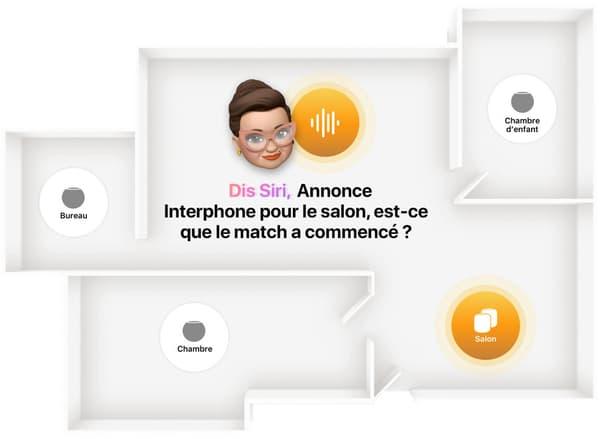 La fonction Intercom du HomePod mini