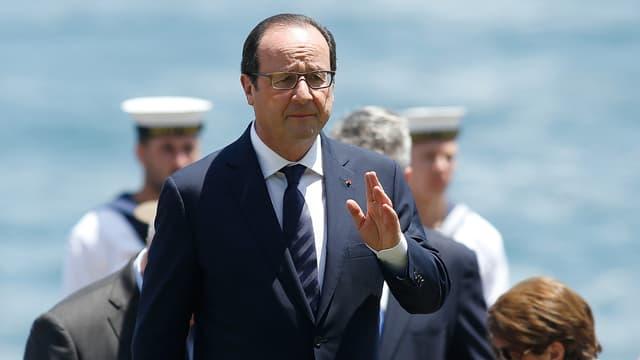 François Hollande lors de sa visite d'Etat en Australie lundi 17 novembre, ici à Sidney
