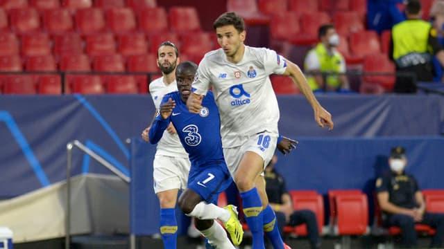 N'Golo Kanté lors de Chelsea-Porto