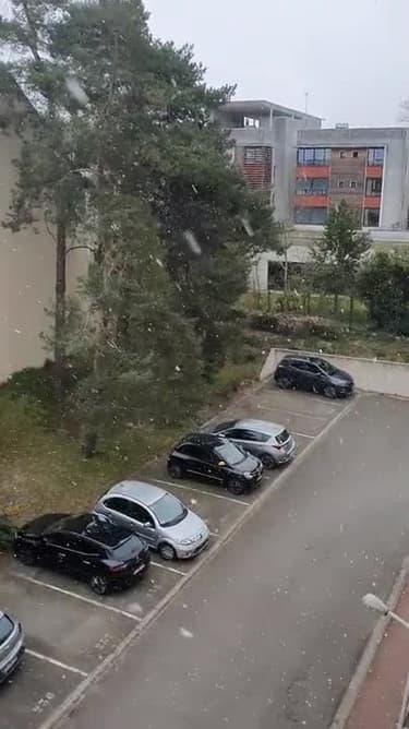 Yvelines : la neige est de retour à Rambouillet - Témoins BFMTV