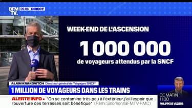 """Alain Krakovicth, directeur général de """"Voyages SNCF"""": """"Un million de voyageurs et 250 TGV"""" sont prévus pour le week-end de l'Ascension"""