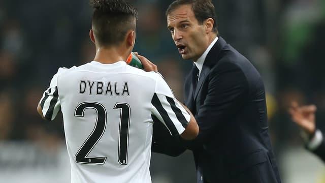 Paulo Dybala et Massimiliano Allegri