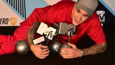 Justin Bieber le 25 octobre lors des Mtv Europe Music Awards