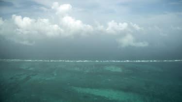 Le récif corallien de Belize le 8 juin 2018