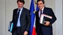 Le ministre du Budget François Baroin quitte mercredi le conseil des ministres en compagnie de François Fillon. Dans un entretien à paraître jeudi dans les Echos, il appelle les parlementaires à faire preuve de mesure dans le rabotage des niches fiscales