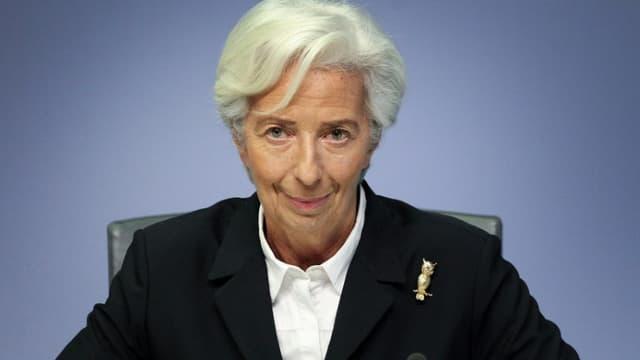 La présidente de la BCE  Christine Lagarde le 23 janvier 2020 à Francfort
