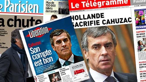 La démission de Jérôme Cahuzac est largement commenté par la presse nationale et régionale.