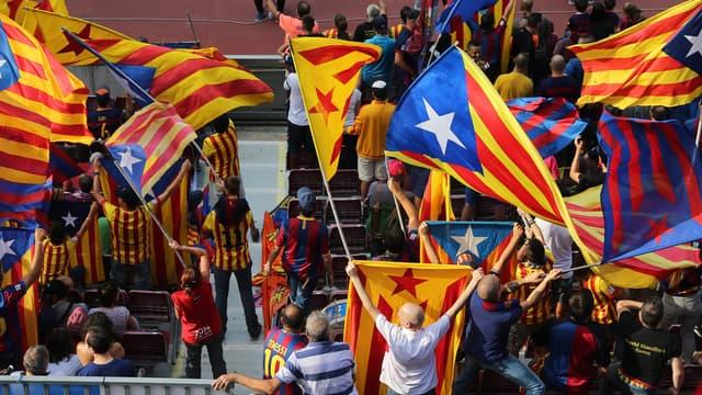 Barça : les drapeaux catalans finalement autorisés