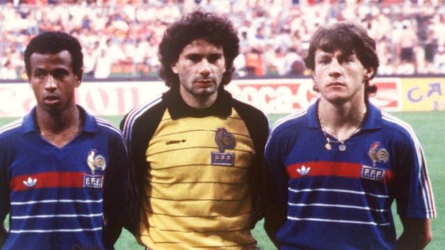 Luis Fernandez avec Jean Tigana et Joël Bats
