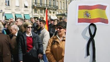 Une manifestation lors des attentats de Madrid en 2004 (image d'illustration).