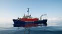 Le navire de l'ONG Lifeline, transportant plus de 230 migrants, le 21 juin 2018.