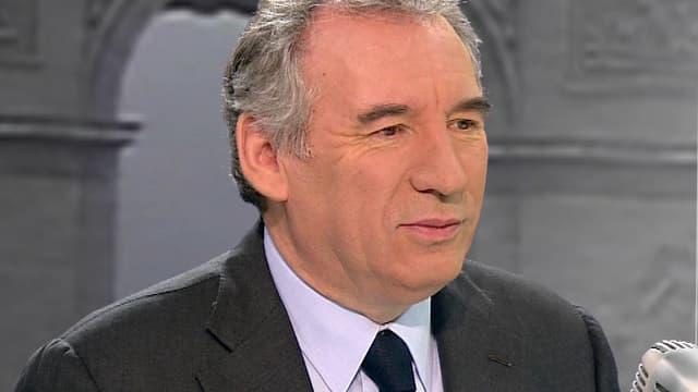 François Bayrou, président du MoDem, le 18 décembre 2014 sur le plateau de BFMTV