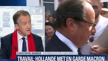 Christophe Barbier, éditorialiste de BFMTV, a commenté les déclarations de François Hollande.