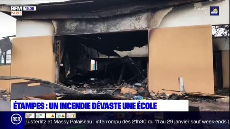 Étampes: un incendie dévaste une école