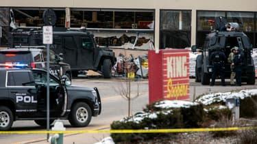 La scène du drame à Boulder.