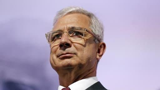Claude Bartolone, président de l'Assemblée nationale et candidat PS aux élections régionales en Ile-de-France, le 20 mai 2015 à Paris