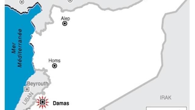 BOMBARDEMENT DE DAMAS, EN SYRIE
