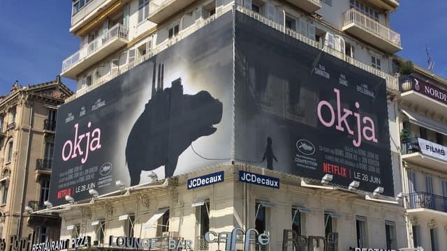 Netflix a fait la promotion de son film 'Okja' sur la Croisette