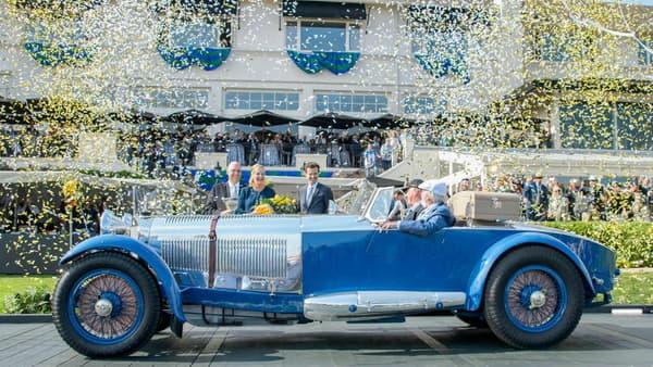 Cette Mercedes S Barker Tourer de 1929 a remporté le concours cette année le concours d'élégance de Pebble Beach.